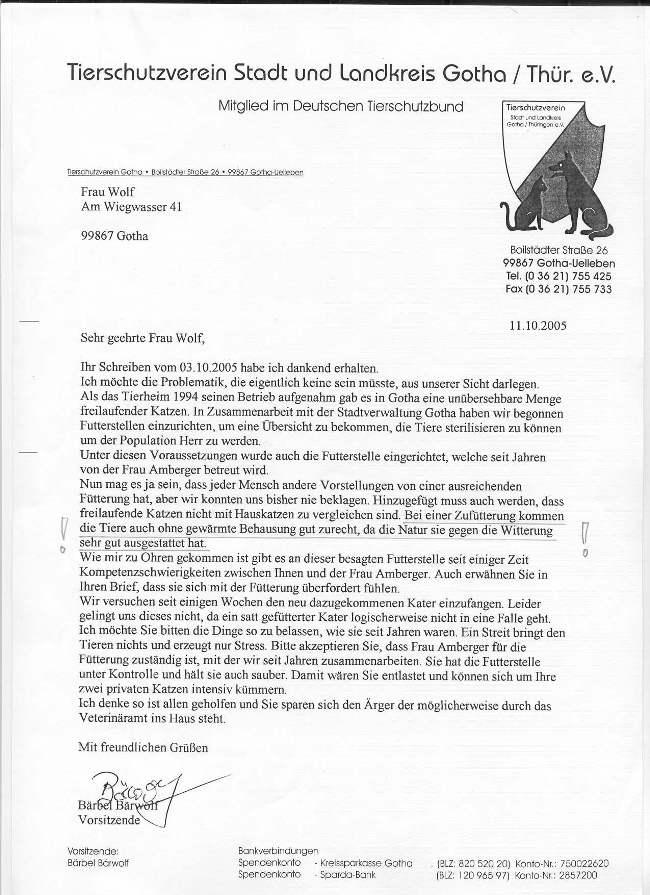 Gothas (Ober)Bürgermeister Und Der Tierschutz? (1)