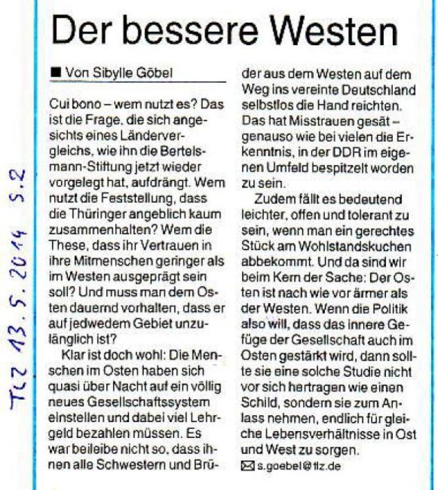 Der bessere Westen - TLZ v. 13.05.2014_01 - gr.