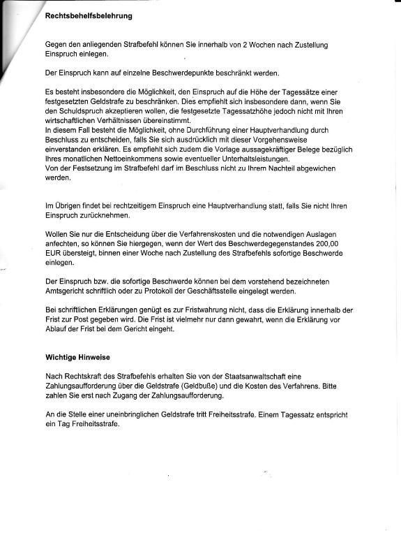 strafbefehl d ag gotha v 15052012 beleidigung_03 kl - Einspruch Strafbefehl Muster