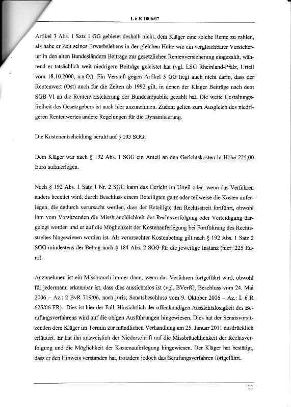 Urteil des LSG vom 25.01.2011 - Harald - Ost-West-Rente_Seite_11 - kl.