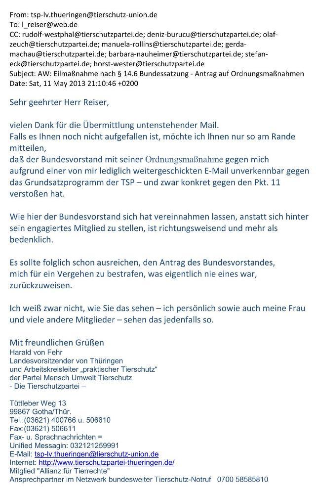 meine Mail v. 11.05.2013 an Bundesschiedsgericht - S. 1 - kl.