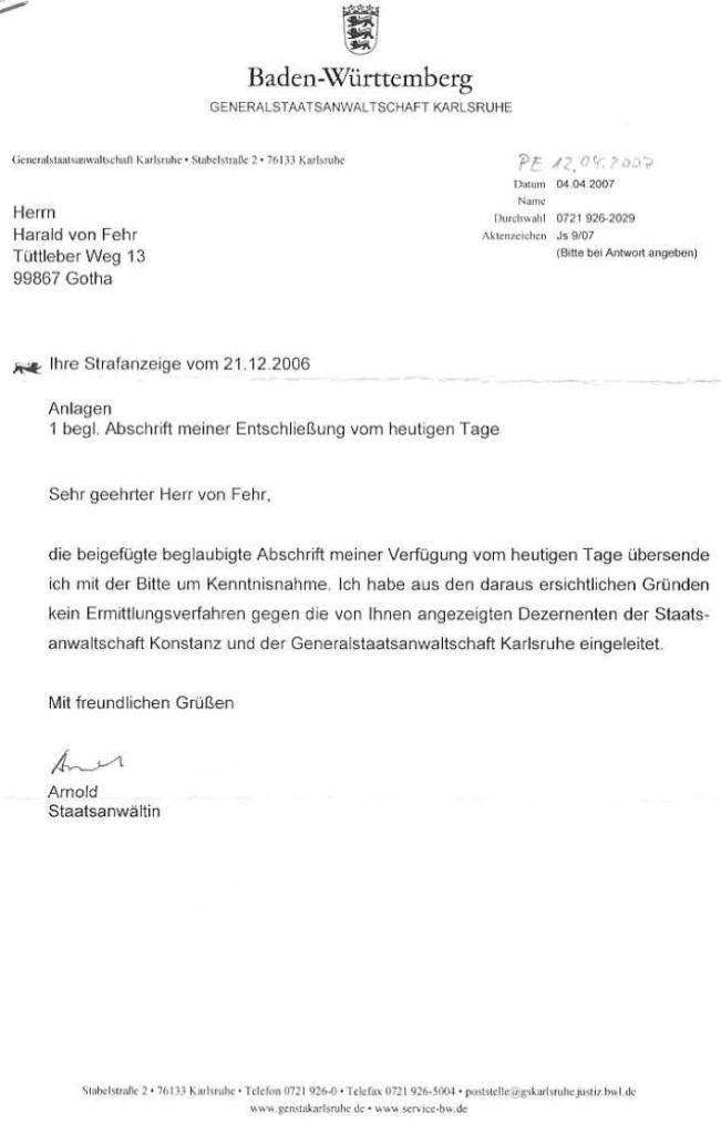 Schreiben der Generalstaatsanwsch. Karlsruhe vom 04.04.07_01 - kl.