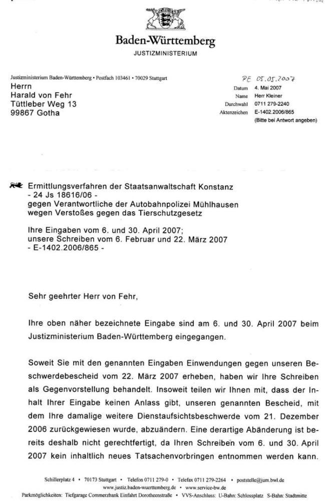 Schreiben des Justizministeriums von B-W vom 04.05.2007_01 - kl.