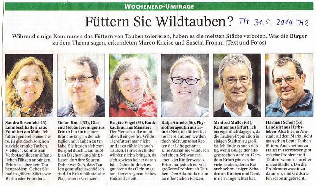 Füttern Sie Wildtauben - TA v. 31.05.2014_01 - kl.