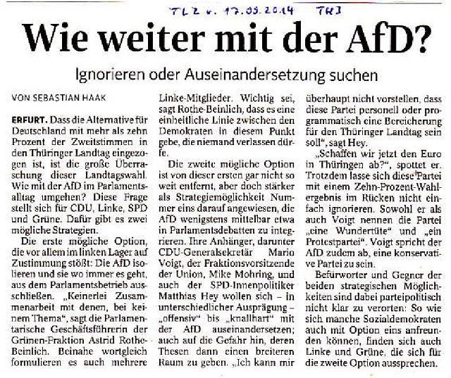 Wie weiter mit der AfD - TLZ v. 17.09.2014-001 - kl.