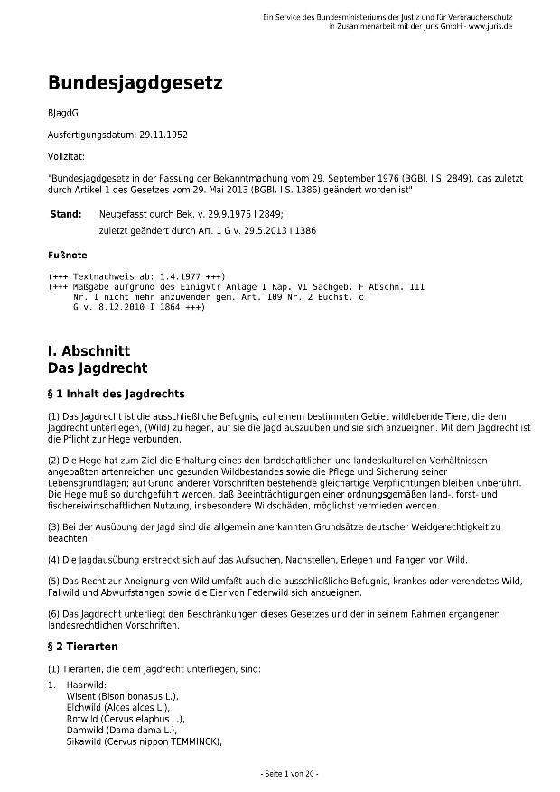 Bundesjagdgesetz v. 29.05.2013_01 - kl.