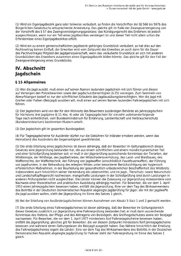 Bundesjagdgesetz v. 29.05.2013_08 - kl.