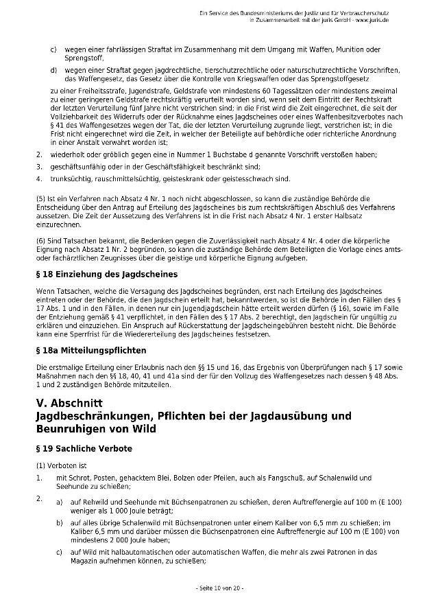 Bundesjagdgesetz v. 29.05.2013_10 - kl.
