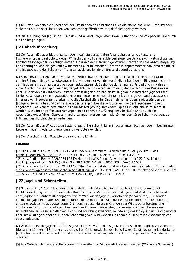 Bundesjagdgesetz v. 29.05.2013_12 - kl.