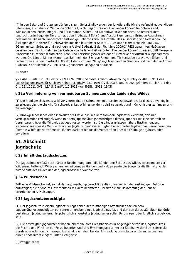 Bundesjagdgesetz v. 29.05.2013_13 - kl.