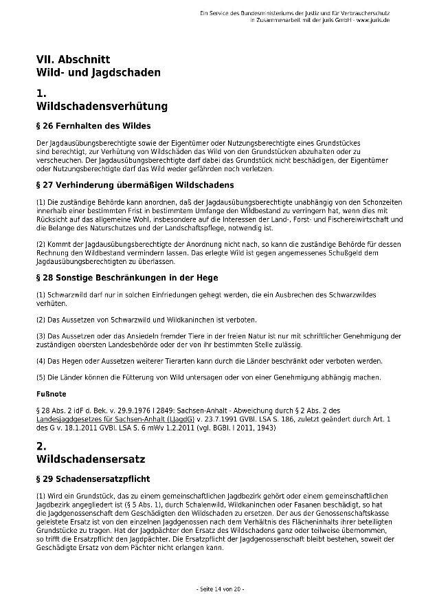 Bundesjagdgesetz v. 29.05.2013_14 - kl.
