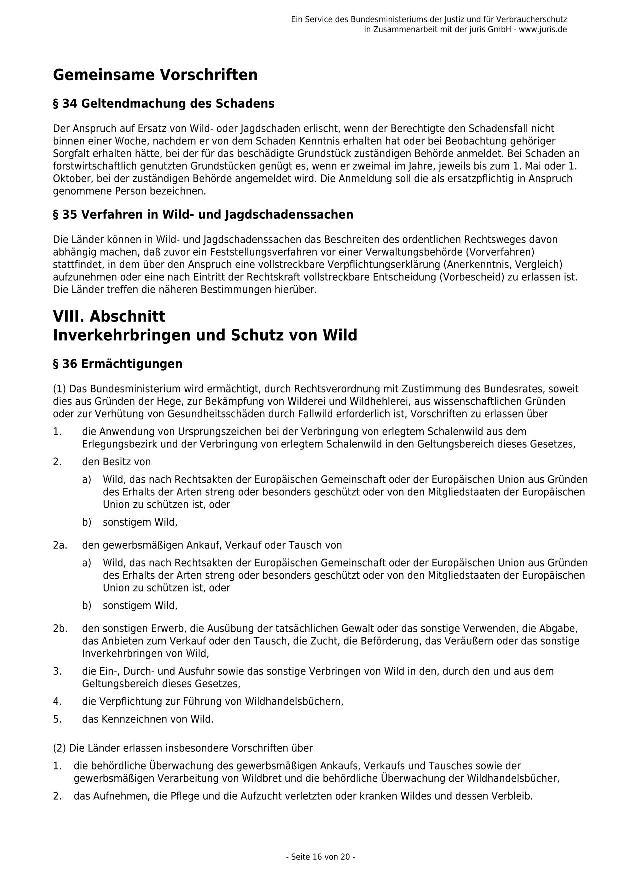 Bundesjagdgesetz v. 29.05.2013_16 - kl.