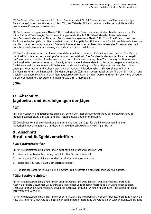 Bundesjagdgesetz v. 29.05.2013_17 - kl.