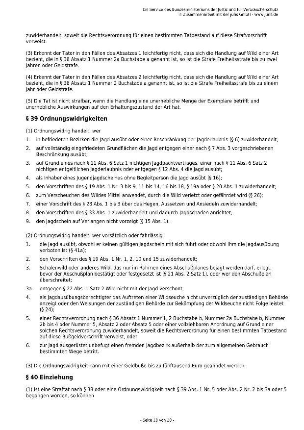 Bundesjagdgesetz v. 29.05.2013_18 - kl.