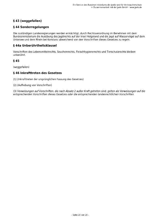 Bundesjagdgesetz v. 29.05.2013_20 - kl.