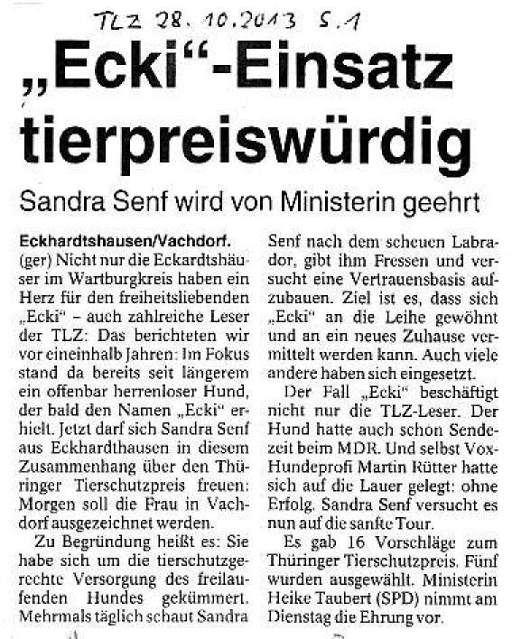 Ecki - Einsatz tierpreiswürdig - TLZ v. 28.10.2013_01