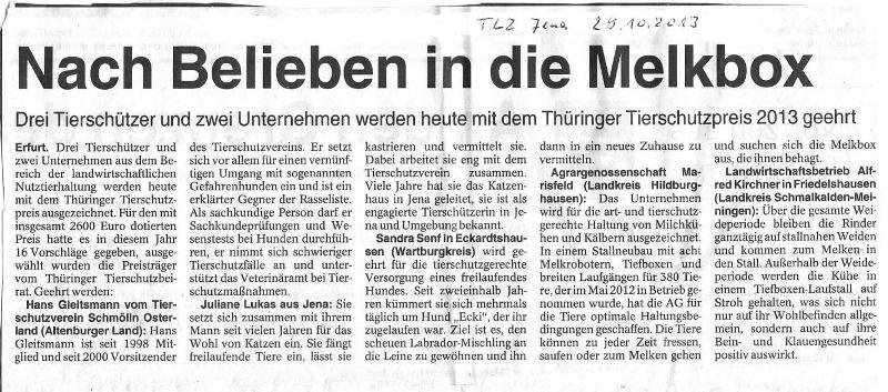 Nach Belieben in die Melkbox - TLZ Jena v.29.10.2013_01 - kl.
