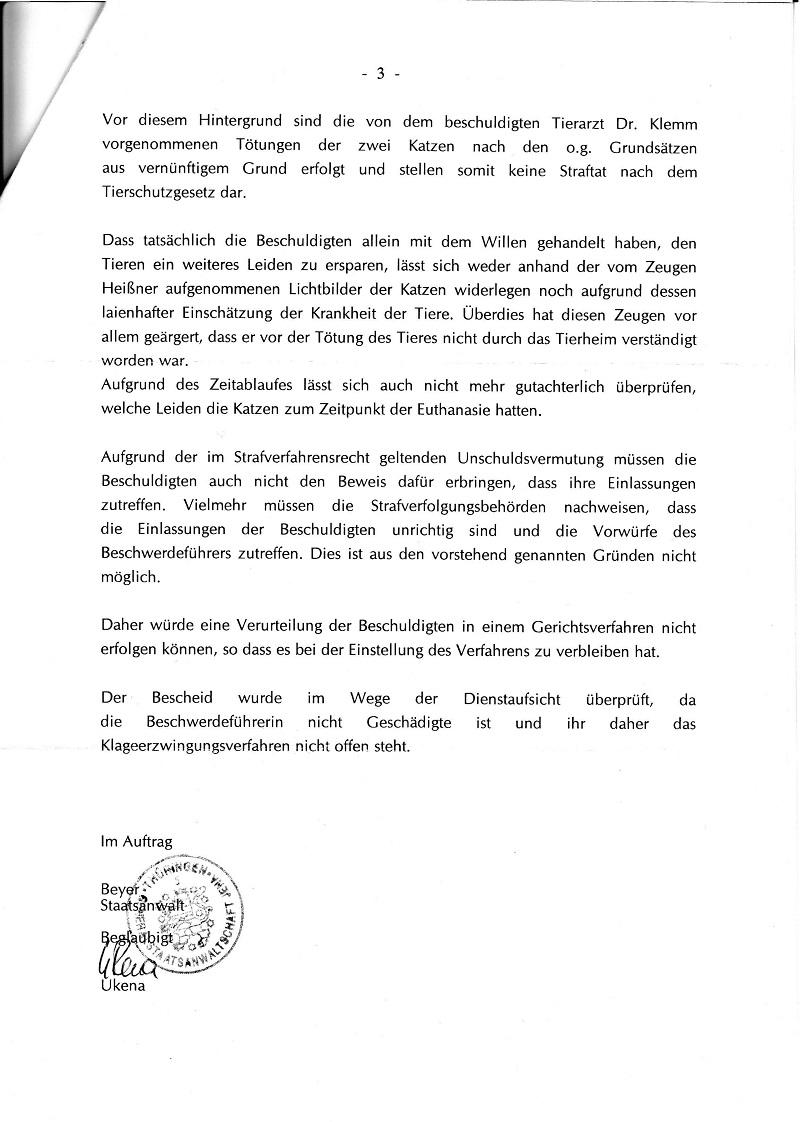 Dienstaufsichtsverwerfung vom 06.11.2009 der GStA Jena - Katzentötung im TH Ilmenau_Seite_3 - kl.