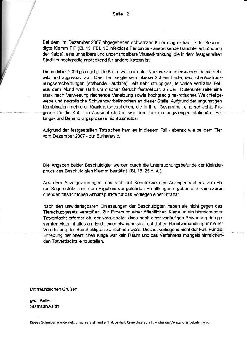 Einstellungsverfügung der Staatsanwsch. Erfurt vom 20.08.2009 - 08.09.2009_Seite_2 - kl.
