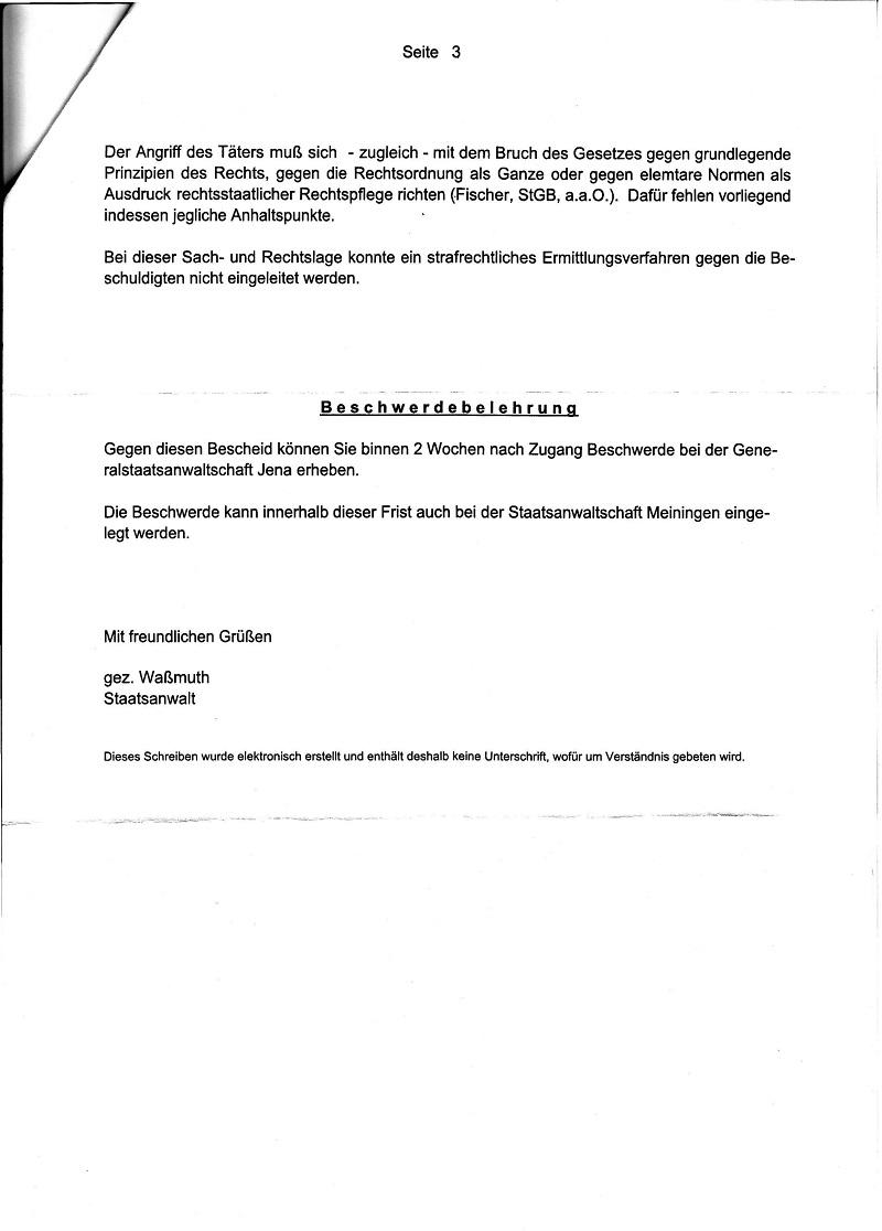 Ermittlungsaufnahmeweigerung der StA Meiningen vom 17.08.2010_Seite_3 - kl.