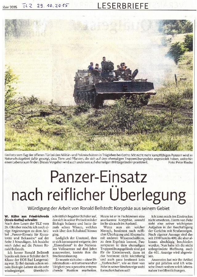 Panzer-Einsatz nach reiflicher Überlegung - TLZ v. 29.10.2015-001- kl.