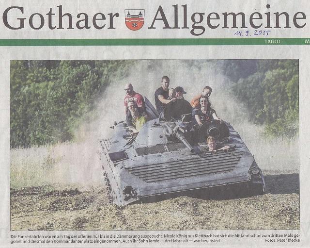 Panzer fahren für die Artenvielfalt und Schießen unter Anleitung - TA v. 14.09.2015-001 - klein