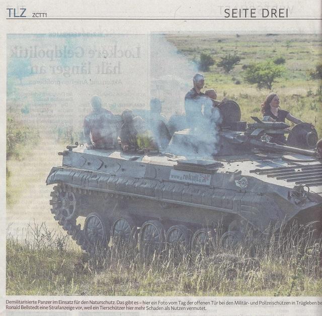Panzereinsatz für Kreuzkröte und Bekassine - TLZ v. 26.10.2015-001 - kl.