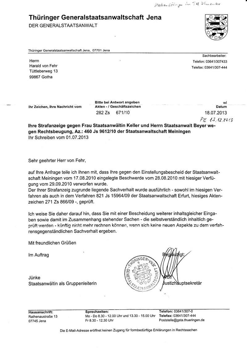 Schreiben d. GStA Jena v. 18.07.2013 - PE 13.12.2013_01 - kl.