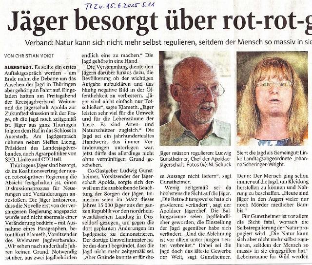 Jäger besorgt über rot-rot-grüne Gesetzespläne -TLZ v. 15.06.2015-001.jpg- kl.