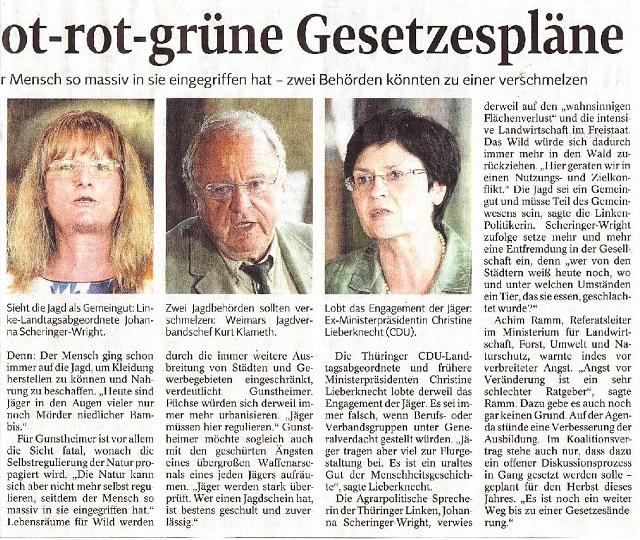 Jäger besorgt über rot-rot-grüne Gesetzespläne -TLZ v. 15.06.2015-002.jpg - kl.