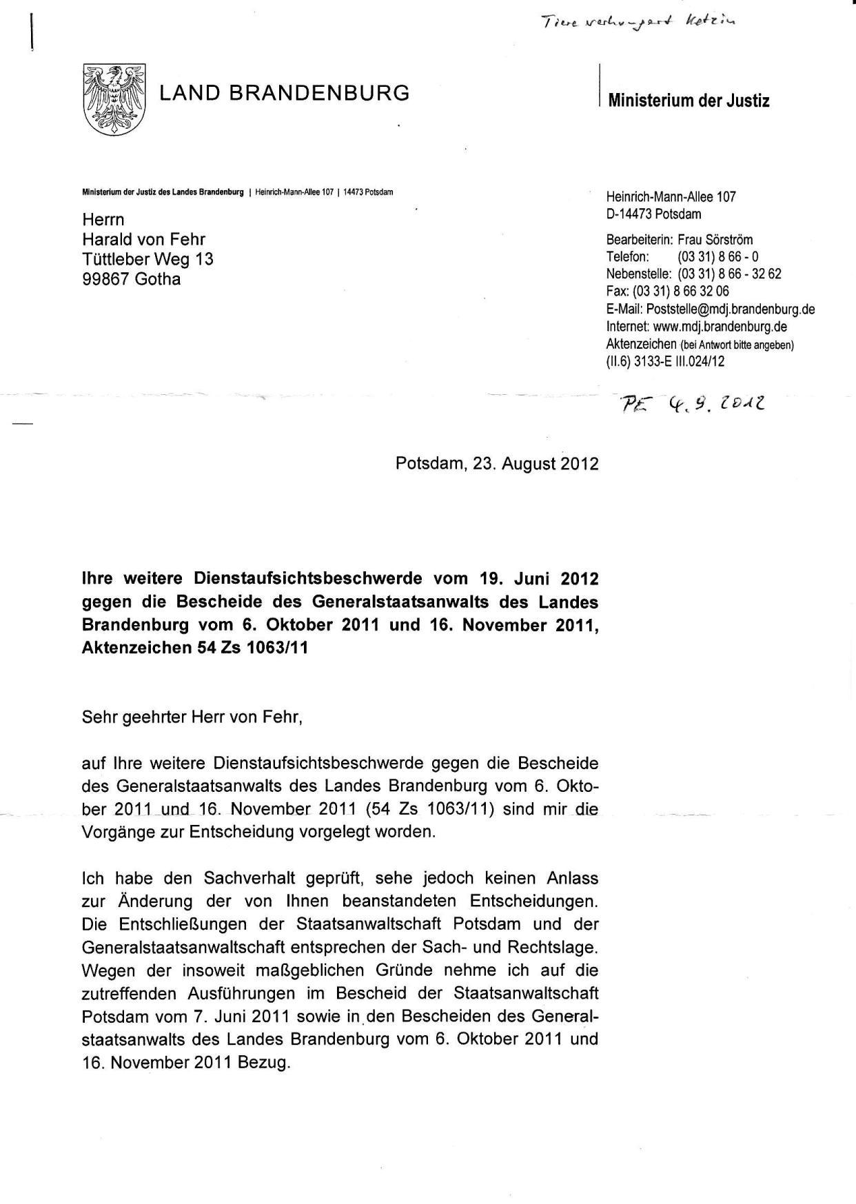 Abhilfeweigerung des JM Brandenburg v. 23.08.2012_01