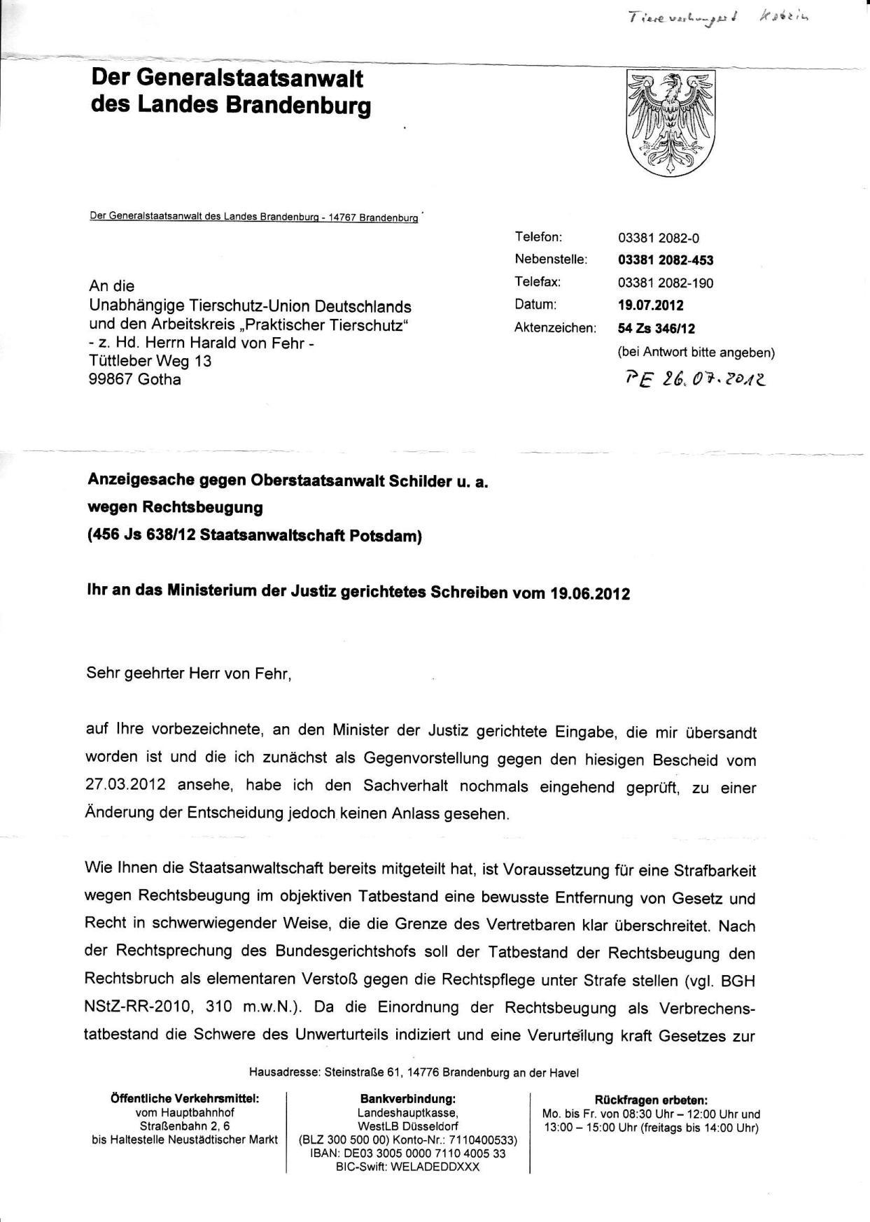 Beschwerdeverw. d. GStA Brandenburg v. 19.7.2012_01