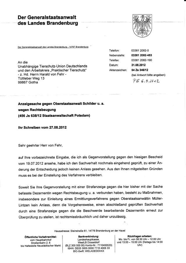 Beschwerdeverweigerung d. GStA Brandenburg v. 31.08.2012_01.jpg - kl.