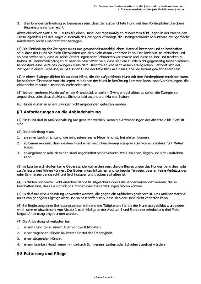 Tierschutz-Hundeverordnung vom 2.5.2001-003 - kl.