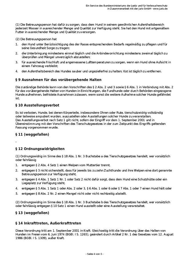 Tierschutz-Hundeverordnung vom 2.5.2001-004 - kl.