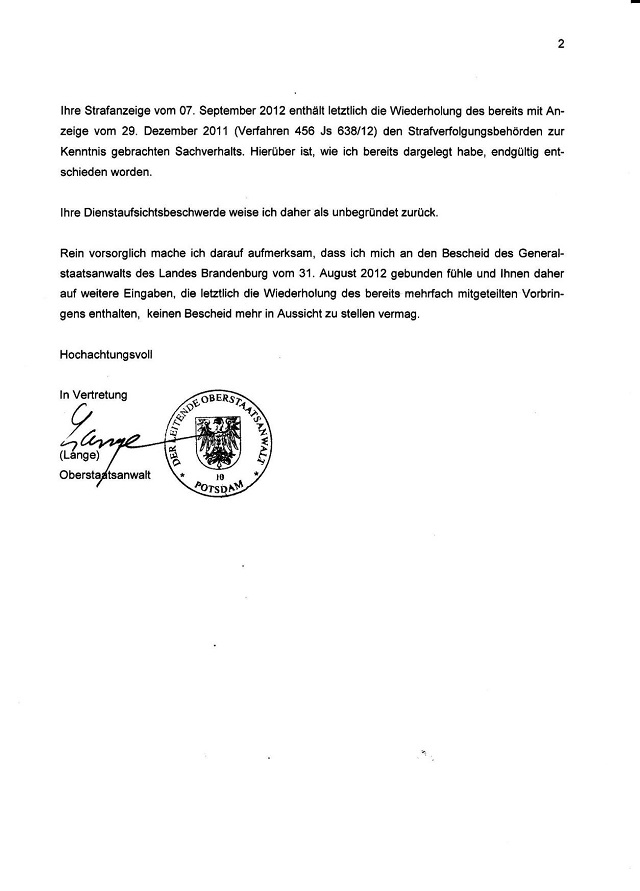 Verweigerung d. StA Potsdam v. 01.10.2013_02.jpg - kl.